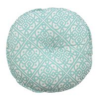 Waverly Modern Poetic Round Button Tufted Throw Pillow
