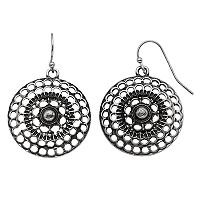 Apt. 9® Nickel Free Openwork Disk Drop Earrings