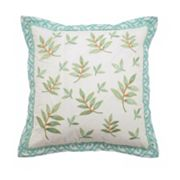 Waverly Modern Poetic Square Embroidered Throw Pillow