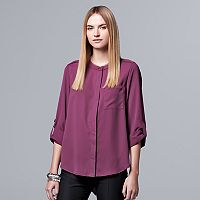 Women's Simply Vera Vera Wang Asymmetrical Split Back Blouse