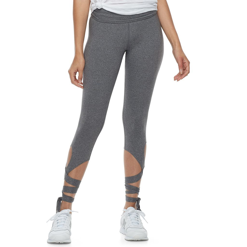 Juniors' SO® Wrap Yoga Capri Leggings