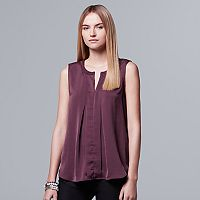 Women's Simply Vera Vera Wang Pleated Tank