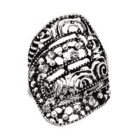Antiqued Openwork Stretch Ring