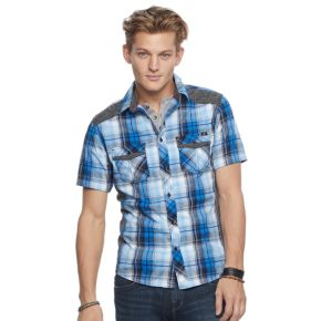 Men's Rock & Republic® Plaid Stretch Button-Down Shirt