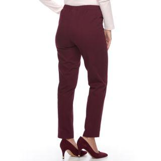Petite Croft & Barrow® Straight-Leg Twill Pants