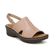 NaturalSoul by naturalizer Seleste Women's Leather Wedge Sandals