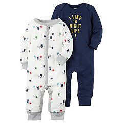 Baby Boy Carter's 2 pkMonster 'I Like The Night Life' Babysoft Coveralls
