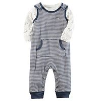 Baby Boy Carter's Tee & Striped Coverall Set
