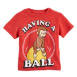 "Toddler Boy Curious George ""Having A Ball"" Graphic Tee"