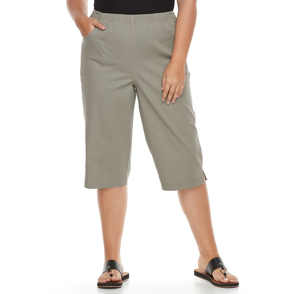 Plus Size Croft & Barrow® Vented Skimmer Capris