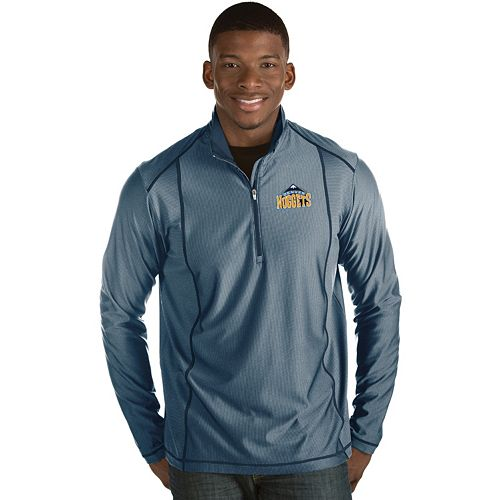 Men's Antigua Denver Nuggets Tempo Quarter-Zip Pullover