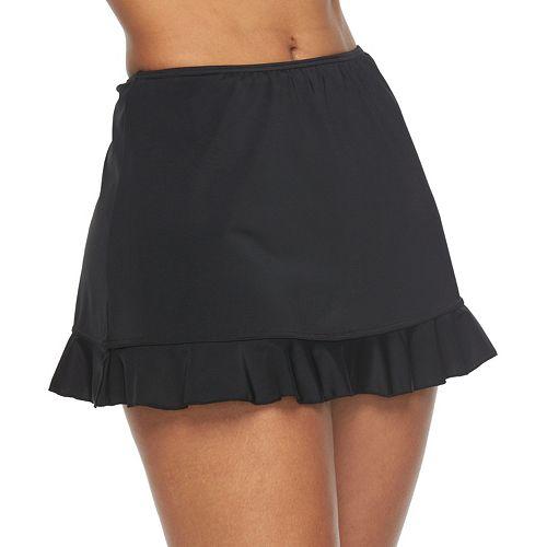 Women's A Shore Fit Hip Minimizer Ruffled Skirtini Bottoms