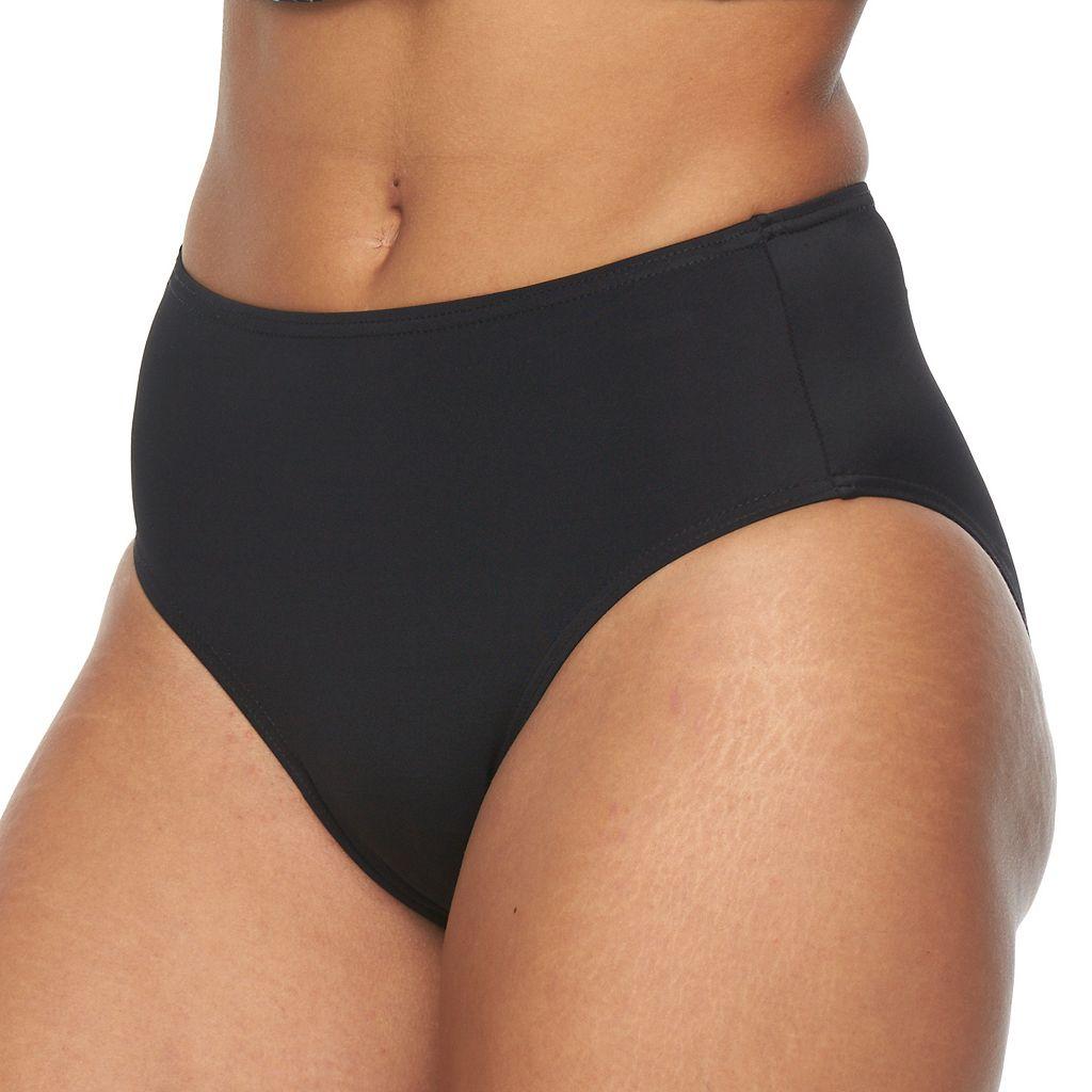 Women's A Shore Fit Solid Bikini Bottoms