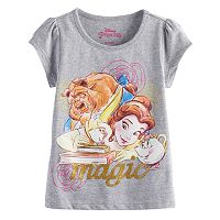 Disney's Beauty and the Beast Belle, Beast, Chip & Mrs. Potts Girls 4-6x Graphic Tee