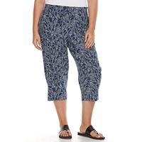Plus Size Croft & Barrow® Linen-Blend Capris