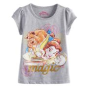 Disney's Beauty and the Beast Belle, Beast, Chip & Mrs. Potts Toddler Girl Graphic Tee