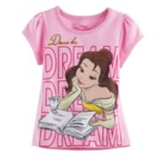 "Disney's Beauty and the Beast Belle Toddler Girl ""Dare to Dream"" Graphic Tee"