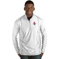 Men's Antigua Houston Rockets Tempo Quarter-Zip Pullover
