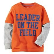 Boys 4-8 Carter's 'Leader On The Field' Mock Layer Graphic Tee