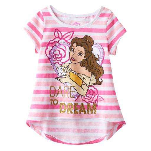 Disney's Beauty & the Beast Toddler Girl High-Low Hem Tee