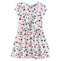 Toddler Girl Jumping Beans® Print Mock-Layer Dress