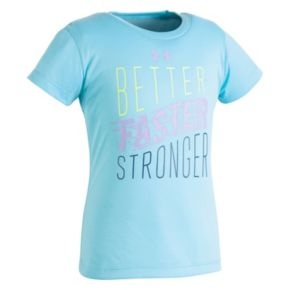 "Toddler Girl Under Armour ""Better Faster Stronger"" Graphic Tee"
