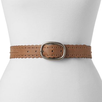 Women's Relic Scalloped Trim Perforated Reversible Belt