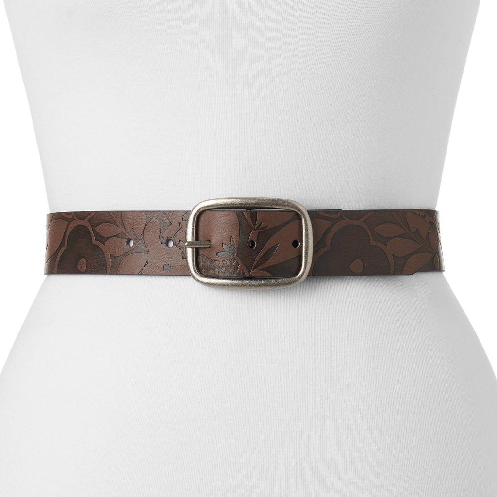 Women's Relic Floral Embossed Reversible Belt