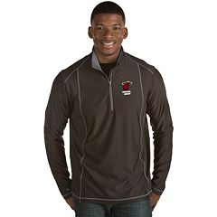 Men's Antigua Miami Heat Tempo Quarter-Zip Pullover