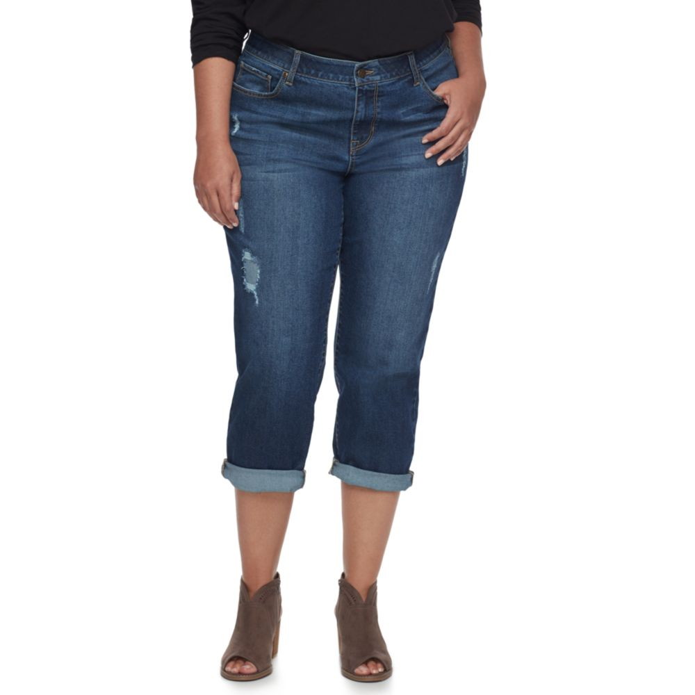 size sonoma goods for life™ distressed boyfriend jeans