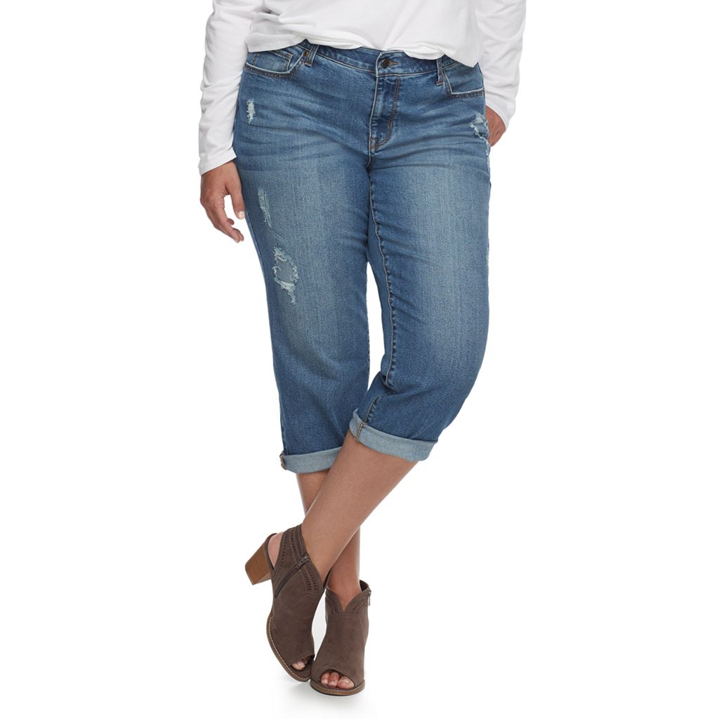 Plus Size SONOMA Goods for Life™ Distressed Boyfriend Jeans