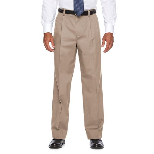 Men's Croft & Barrow® Relaxed-Fit Easy-Care Stretch Flat-Front Casual Pants