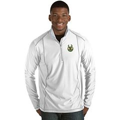 Men's Antigua Milwaukee Bucks Tempo Quarter-Zip Pullover