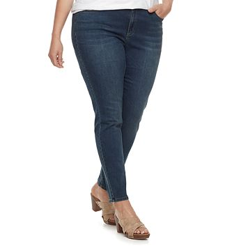 Plus Size SONOMA Goods for Life™ Faded Skinny Jeans