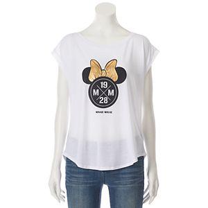 Disney's Minnie Mouse Juniors' Split Back Graphic Tee