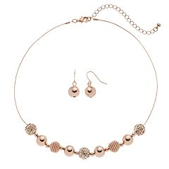 Apt. 9® Coil Bead Necklace & Drop Earring Set