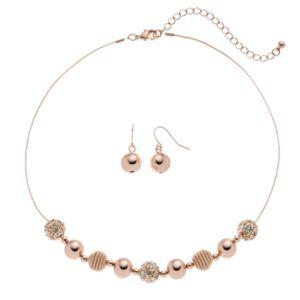Apt. 9® Coil Bead Necklace & Drop Earring Set