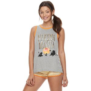 Disney's The Lion King Juniors' Pajamas: Tank & Shorts PJ Set