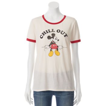 "Disney's Mickey Mouse Juniors' ""Chill Out"" Ringer Graphic Tee"