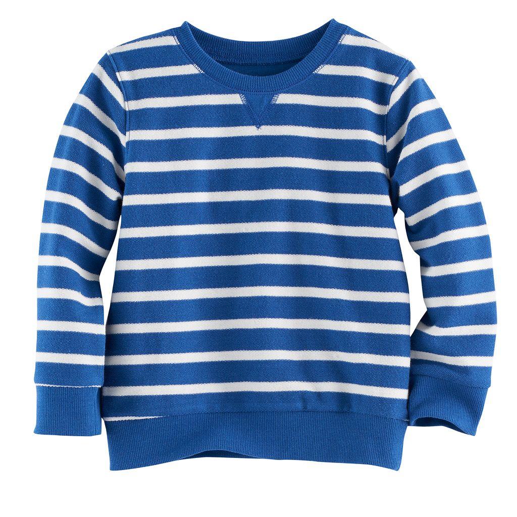 Toddler Boy Jumping Beans® Reverse Striped Terry Sweatshirt