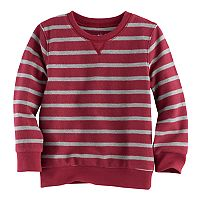 Toddler Boy Jumping Beans® Reverse Striped Terry Sweatshirt