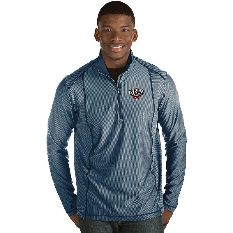 Men's Antigua New Orleans Pelicans Tempo Quarter-Zip Pullover, Size: Small, Blue