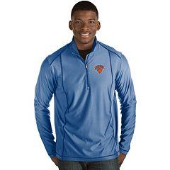 Men's Antigua New York Knicks Tempo Quarter-Zip Pullover