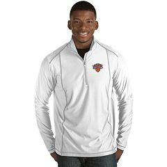 Men's Antigua New York Knicks Tempo Quarter-Zip Pullover