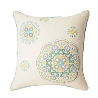 Waverly Astrid Square Embroidered Throw Pillow