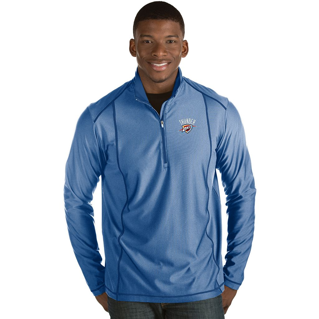 Men's Antigua Oklahoma City Thunder Tempo Quarter-Zip Pullover