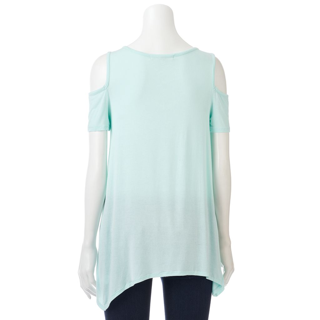 Women's French Laundry Cold-Shoulder Crisscross Tee