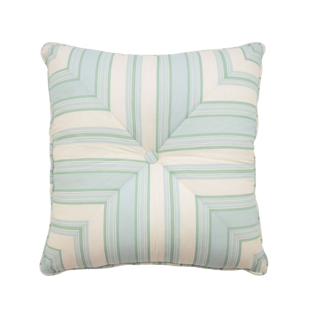 Waverly Astrid Square Button Tufted Throw Pillow