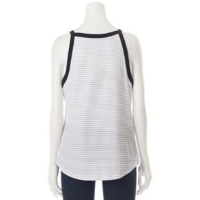 Juniors' Star Wars Stripe High Neck Graphic Tank