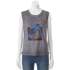Juniors' Star Wars Classic Muscle Graphic Tank